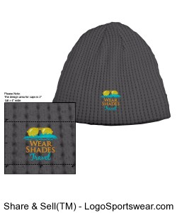 Big Bear Solid Color Eco Beanie Design Zoom